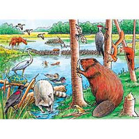 The Beaver Pond, 35pc Tray Puzzle by Cobble Hill
