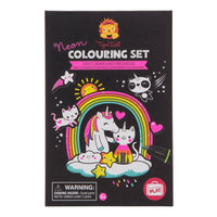 UNICORN & FRIEND – NEON COLORING SET by Tiger Tribe