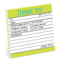 Hand-Lettered Thank You Sticky Notes Pad