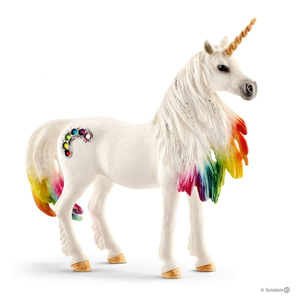 RAINBOW UNICORN, MARE Schleich Animal Figure