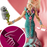 MERMAID WITH BABY SEAL IN SHELL - Schleich Fantasy Animal Figure Set 70564