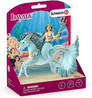 Mermaid Eyela Riding Underwater Horse - Schleich Fantasy Mermaid Animal Figure 70594