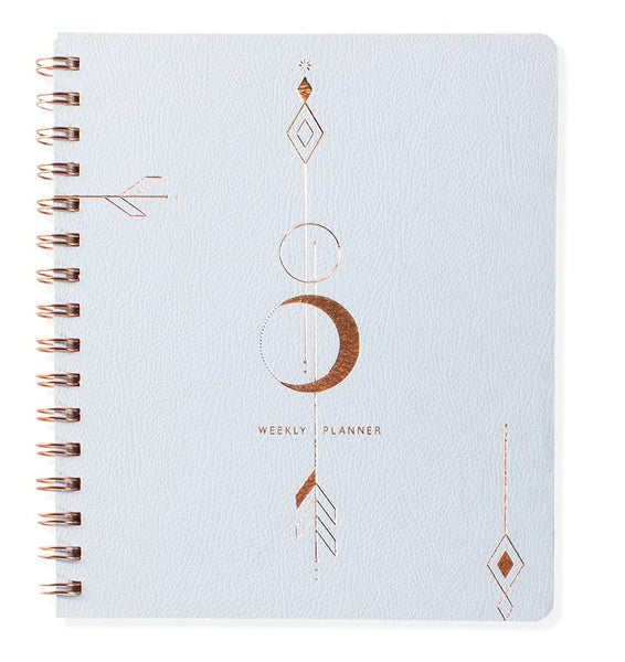FRINGE STUDIO MOON ARROW NON-DATED WEEKLY PLANNER, VEGAN LEATHER