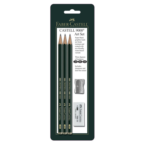 Castell® 9000 Graphite Pencil Set of 3 by Faber Castell