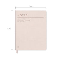 FRINGE STUDIO GOTHAM BLUSH NOTEBOOK, FAUX LEATHER JOURNAL