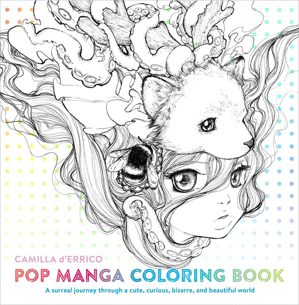 Pop Manga (Adult) Coloring Book By CAMILLA D'ERRICO