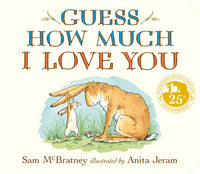 Guess How Much I Love You, a board book by Sam McBratney