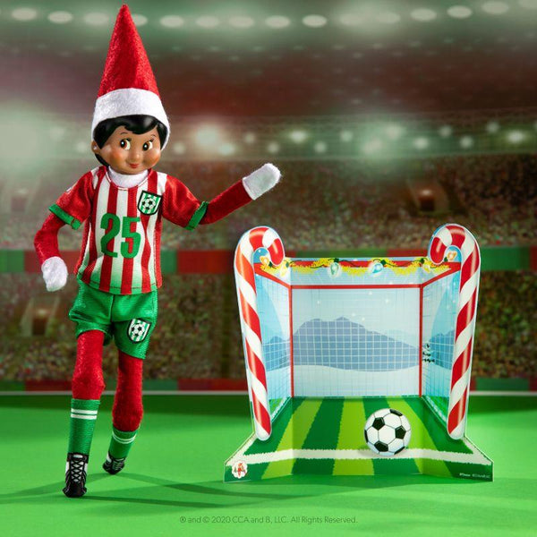 The Elf On The Shelf CLAUS COUTURE COLLECTION® NORTH POLE GOAL & GEAR Soccer Uniform