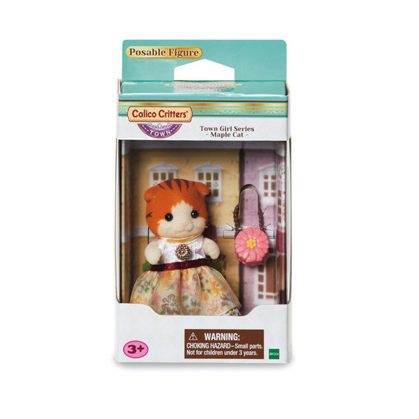 Calico Critters Town Series Girl - Maple Cat
