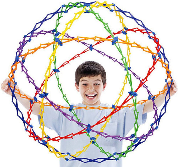 "Huge 30"" Hoberman Rainbow Sphere"
