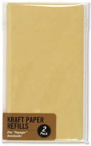 KRAFT PAPER VOYAGER JOURNAL PAPER PAGE REFILLS, 120 PAGES