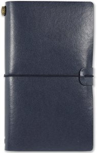 MIDNIGHT BLUE VOYAGER NOTEBOOK, REFILLABLE