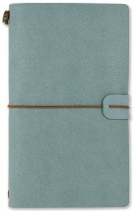 LIGHT BLUE VOYAGER NOTEBOOK, REFILLABLE