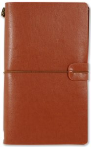 NUTMEG BROWN VOYAGER NOTEBOOK, REFILLABLE