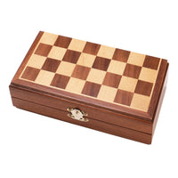 "8"" Magnetic Travel Wood Chess Set"