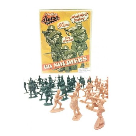 Retro Mini Soldier 60 Pack - Army Men Figures