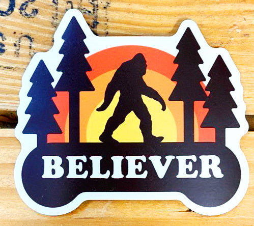 "Retro Sasquatch ""Believer"" Vinyl Sticker"