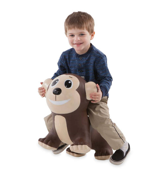 Monkey Bouncy Inflatable Animal Jump-Along for Toddlers