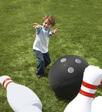 "Indoor/Outdoor Giant Inflatable Bowling Game With 29""H Pins and 20"" diam. Ball"