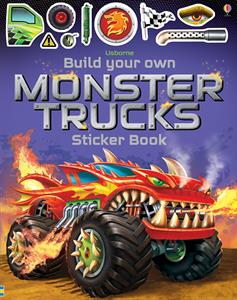 Build Your Own Monster Trucks - an Activity Book by Usborne