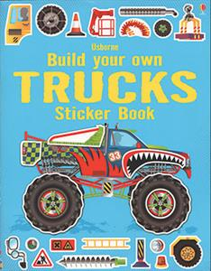 Build Your Own Trucks Sticker Book - an Activity Book by Usborne