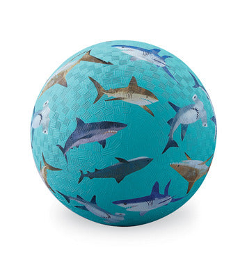 "7"" Playground Ball - Sharks Blue"