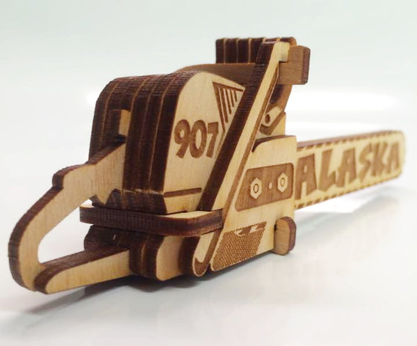 Alaska Chainsaw Ornament Wooden 3D Puzzle Kit