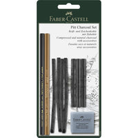 Pitt® Charcoal - Set of 10 Charcoals for Drawing Art by Faber Castell