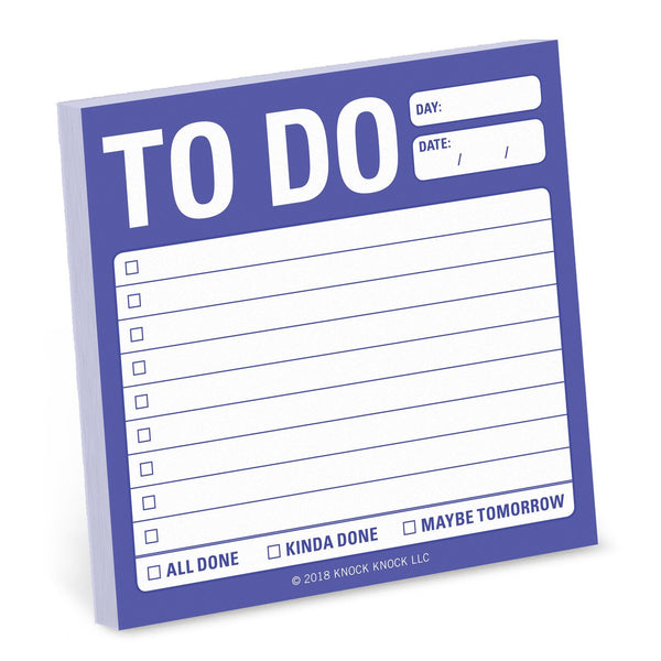 To Do Sticky Notes Pad