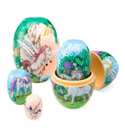 Fantasy Land Nesting Set of 5 Wooden Eggs