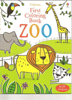First Coloring Book Zoo - Activity Book by Usborne