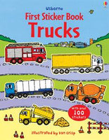 First Sticker Book Trucks - an Activity Book by Usborne