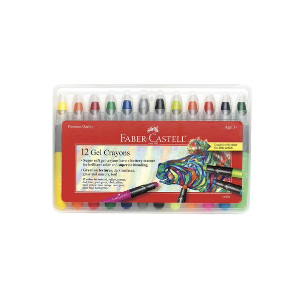 12 Gel Crayons in Storage Case by Faber-Castell