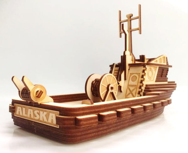Alaskan Gillnetter B2 Fishing Boat Wooden 3D Puzzle Kit