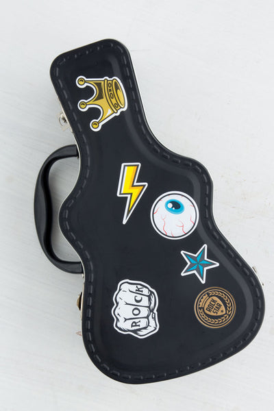 Rockstar Tin Guitar Case Lunch Box