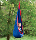 HugglePod® Indoor/Outdoor Canvas Hanging Chair - BLUE