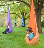 HugglePod Lite Indoor/Outdoor Nylon Hanging Chair with Inflatable Cushion - ORANGE
