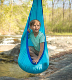 HugglePod Lite Indoor/Outdoor Nylon Hanging Chair with Inflatable Cushion - BLUE