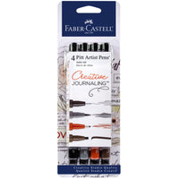 Set of 4 Pitt Artist Pens® for Creative Journaling by Faber-Castell