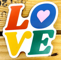 """LOVE"" Block Letters Vinyl Sticker"