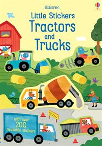 Little Stickers Tractors and Trucks- an Activity Book by Usborne