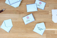 Mini Mail Pad of 100 tear-off memo notes that fold into mini envelopes