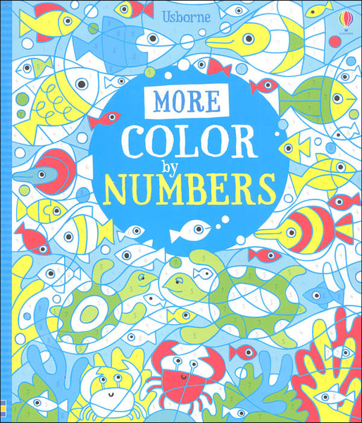 More Color by Numbers - Activity Book by Usborne