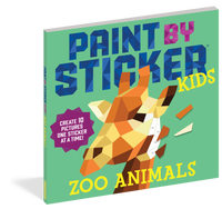 Paint by Sticker Kids: Zoo Animals - Create 10 Pictures One Sticker at a Time