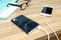 Marble Power Bank - Portable Charger in Black or White
