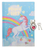 Rainbow Unicorn Girls Locking Diary