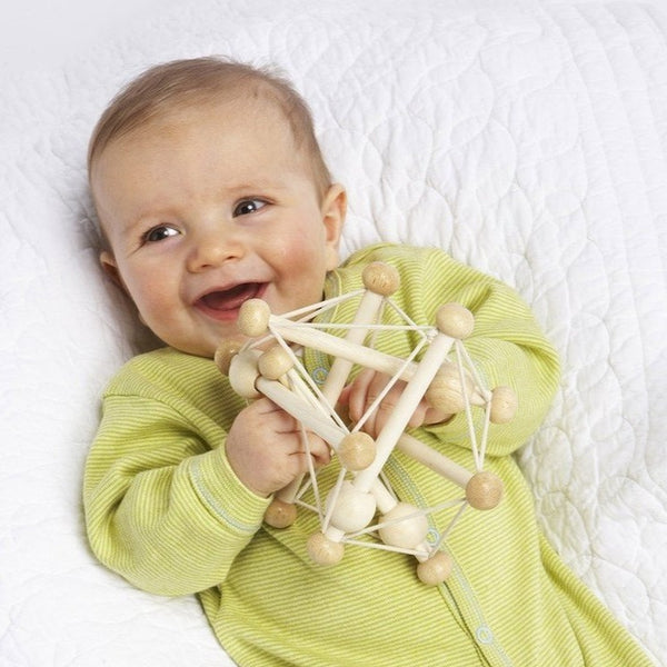 Skwish Natural Wooden Baby Toy by Manhattan Toys