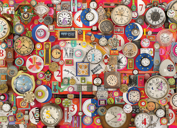 Timepieces, 1000pc Clock Puzzle by Cobble Hill