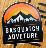 Sasquatch Adventure Sunrise Vinyl Sticker