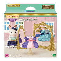 Calico Critters Boutique Fashion Set with Mirror, 2 Dresses & Mannequin